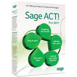 Sage ACT pro 2011 CRM software